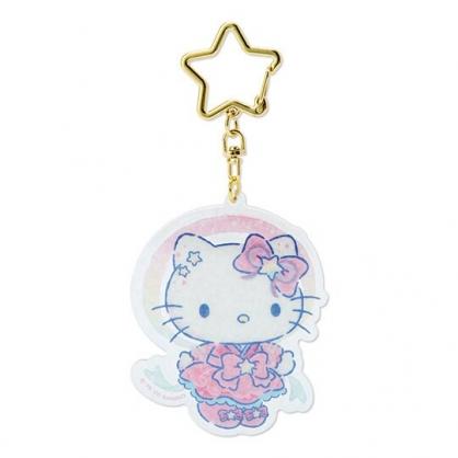 小禮堂 Hello Kitty 造型壓克力鑰匙圈 塑膠吊飾 掛飾 (粉 2020浪漫七夕)