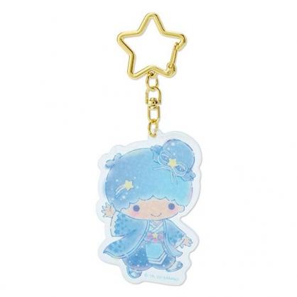 小禮堂 雙子星KIKI 造型壓克力鑰匙圈 塑膠吊飾 掛飾 (藍 2020浪漫七夕)