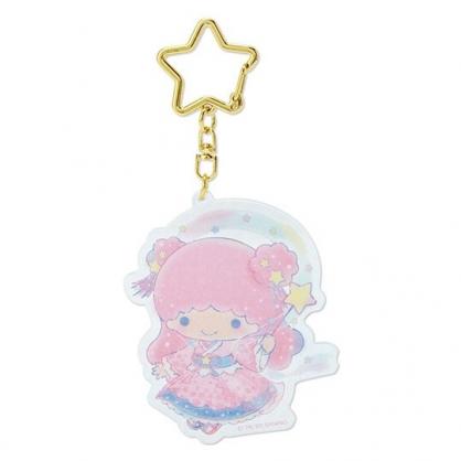 小禮堂 雙子星LALA 造型壓克力鑰匙圈 塑膠吊飾 掛飾 (粉 2020浪漫七夕)