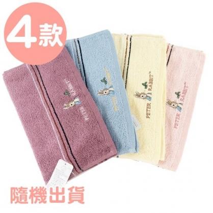 小禮堂 彼得兔 精繡純棉兒童毛巾 長毛巾 童巾 34x76cm (M 4款隨機)