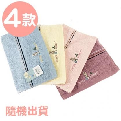 小禮堂 彼得兔 精繡純棉兒童毛巾 長毛巾 童巾 27x54cm (S 4款隨機)