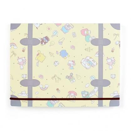 小禮堂 Sanrio大集合 A4五層風琴資料夾 分類文件夾 文件袋 (黃 滿版)