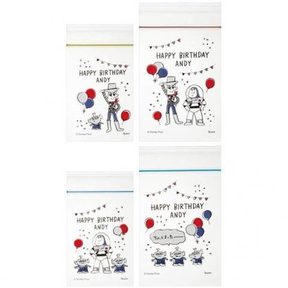 小禮堂 迪士尼 玩具總動員 迷你透明夾鏈袋組 塑膠密封袋 分裝袋 (20入 紅 汽球)