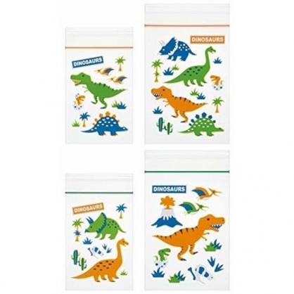 小禮堂 恐龍 迷你透明夾鏈袋組 塑膠密封袋 分裝袋 (20入 綠 森林)