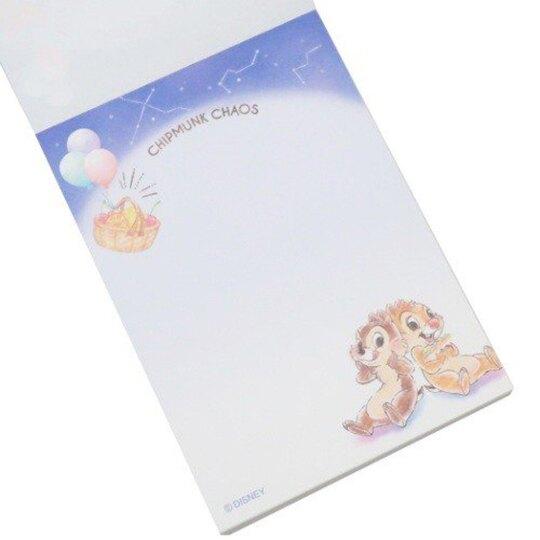 小禮堂 迪士尼 奇奇蒂蒂 日製 迷你便條本 便條紙 備忘錄 (藍棕 星空)