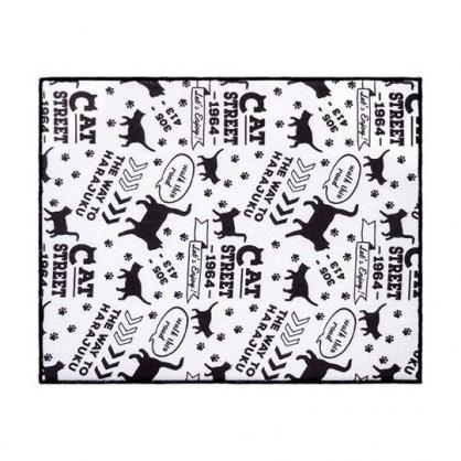 小禮堂 OKATO 方形廚房用吸水墊 餐具墊 碗盤墊 防潮墊 40x50cm (黑白 貓咪)