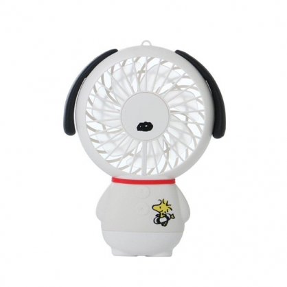 小禮堂 史努比 手持電風扇 隨身風扇 USB電風扇 附腕繩 (白衣 站姿)