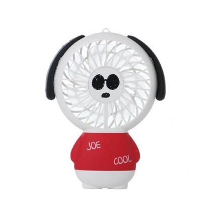 小禮堂 史努比 手持電風扇 隨身風扇 USB電風扇 附腕繩 (紅衣 站姿)
