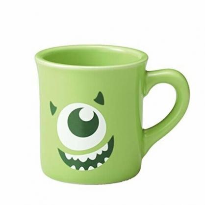 小禮堂 迪士尼 怪獸大學 大眼怪 陶瓷馬克杯 咖啡杯 陶瓷杯 290ml (綠 大臉)