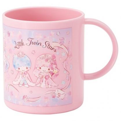 小禮堂 雙子星 單耳塑膠杯 兒童水杯 漱口杯 240ml (粉 獨角獸)