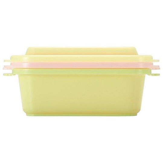 小禮堂 角落生物 日製 方形塑膠保鮮盒 透明保鮮盒 微波便當盒 500ml (2入 黃 看書)