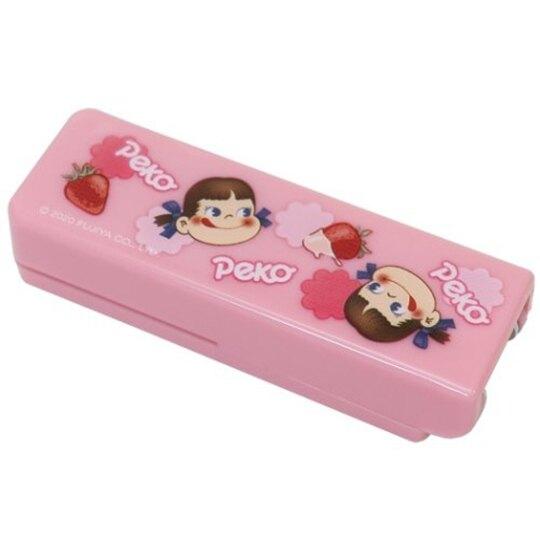 小禮堂 不二家PEKO 隨身釘書機 裝訂機 迷你釘書機 (粉 草莓)