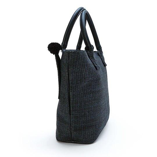 小禮堂 酷洛米 藤編側背包 編織手提包 海灘包 (黑 2020夏日服飾)