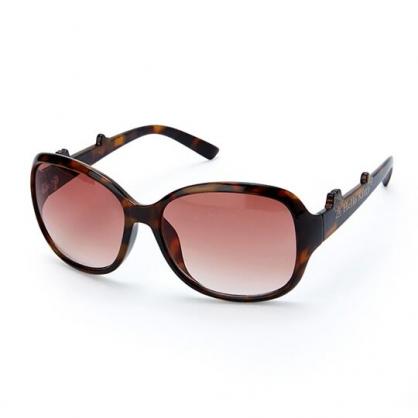 小禮堂 Hello Kitty 茶色鏡片抗UV太陽眼鏡 墨鏡 防曬眼鏡 (棕 2020夏日服飾)