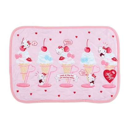 小禮堂 Hello Kitty 涼感枕頭套 枕巾 冷感枕套 涼感寢具 43x63cm (粉 聖代)