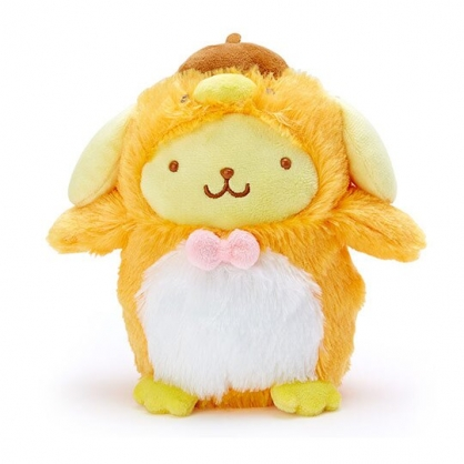 小禮堂 布丁狗 企鵝裝絨毛玩偶 沙包娃娃 布偶 (S 黃白)
