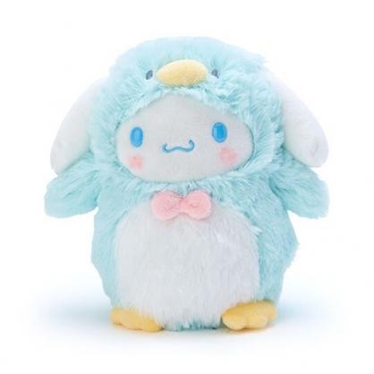 小禮堂 大耳狗 企鵝裝絨毛玩偶 沙包娃娃 布偶 (S 藍白)