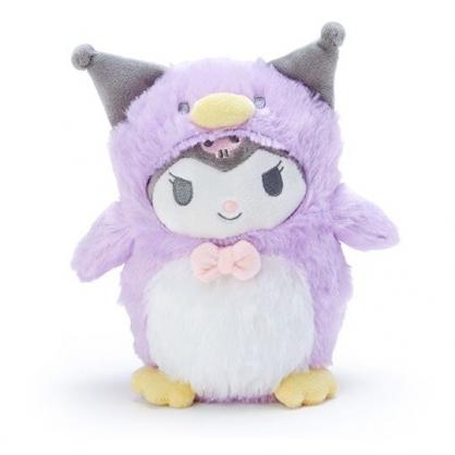 小禮堂 酷洛米 企鵝裝絨毛玩偶 沙包娃娃 布偶 (S 紫白)