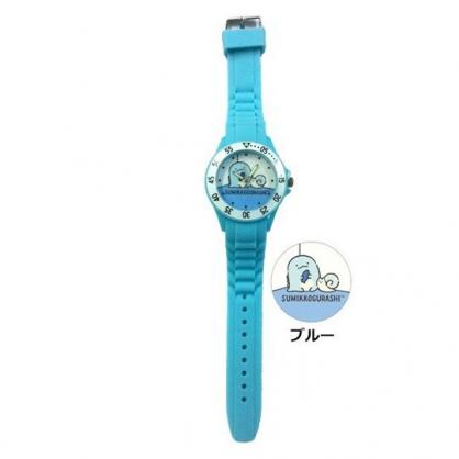 小禮堂 角落生物 恐龍 矽膠錶帶兒童手錶 運動手錶 休閒腕錶 透明盒裝 (藍 牆角)