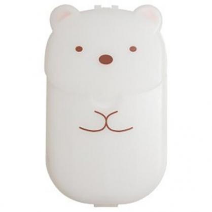 小禮堂 角落生物 北極熊 日製 攜帶型盒裝紙肥皂 紙香皂 皂紙 (40入 白 全身)