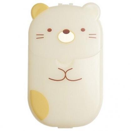 小禮堂 角落生物 貓咪 日製 攜帶型盒裝紙肥皂 紙香皂 皂紙 (40入 黃 全身)