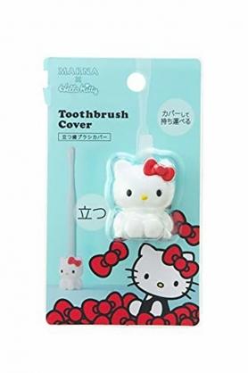 小禮堂 Hello Kitty 全身造型矽膠牙刷架 牙刷座 筆架  (紅白)