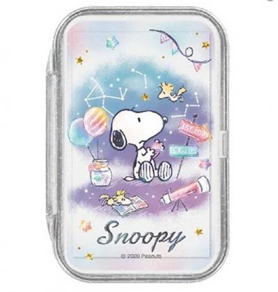 小禮堂 史努比 日製 攜帶型盒裝紙肥皂 紙香皂 皂紙 (50入 紫藍 星空)