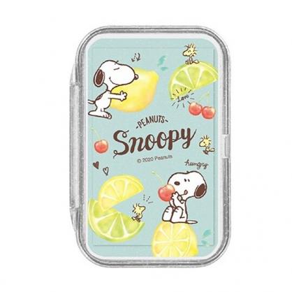 小禮堂 史努比 日製 攜帶型盒裝紙肥皂 紙香皂 皂紙 (50入 綠黃 檸檬)