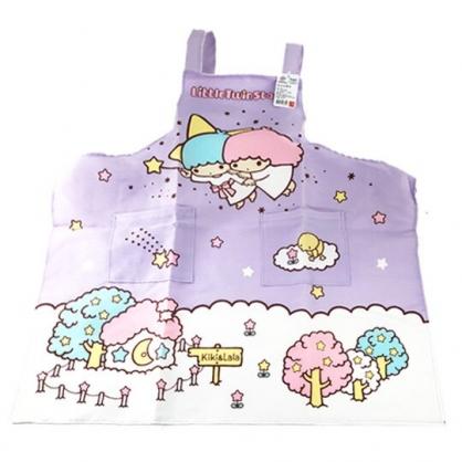 小禮堂 雙子星 綁帶式帆布圍裙 烘培圍裙 工作圍裙 (紫 雲上)