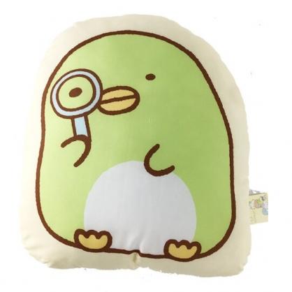 小禮堂 角落生物 企鵝 造型絨毛抱枕 靠墊 玩偶 娃娃 (黃綠 放大鏡)