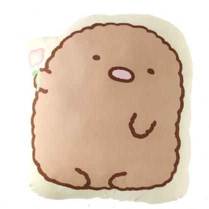 小禮堂 角落生物 豬排 造型絨毛抱枕 靠墊 玩偶 娃娃 (黃棕 招手)