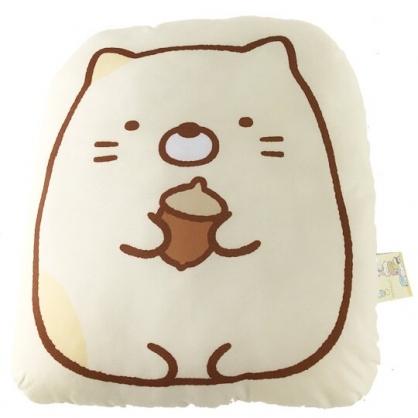 小禮堂 角落生物 貓咪 造型絨毛抱枕 靠墊 玩偶 娃娃 (黃 拿松果)