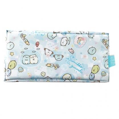 小禮堂 角落生物 方形尼龍拉鍊筆袋 鉛筆盒 筆袋 (藍 貝殼)