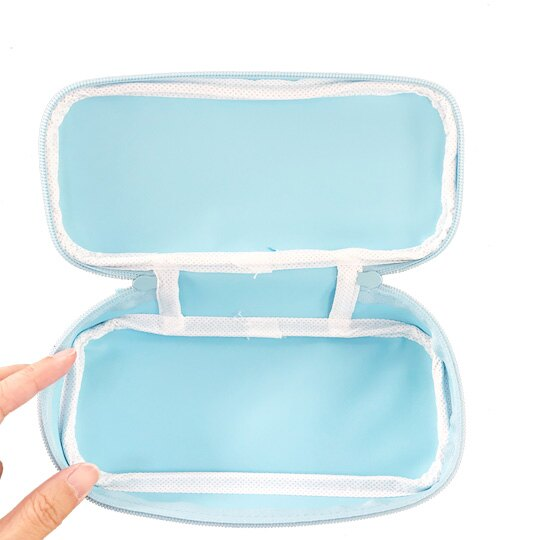 小禮堂 角落生物 尼龍掀蓋拉鍊筆袋 鉛筆盒 筆袋 (藍 貝殼)