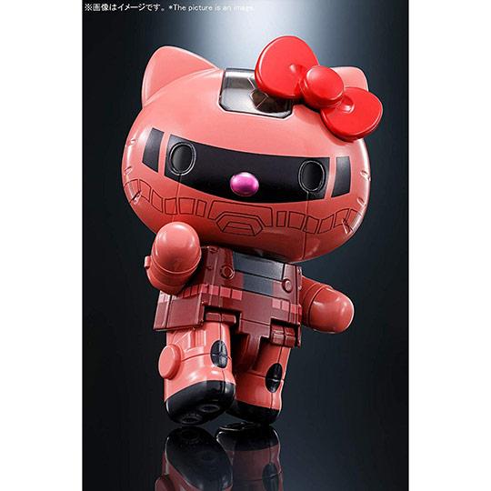 【官網獨家】小禮堂 Hello Kitty 超合金 夏亞專用薩克 機器人 日本萬代 BANDAI