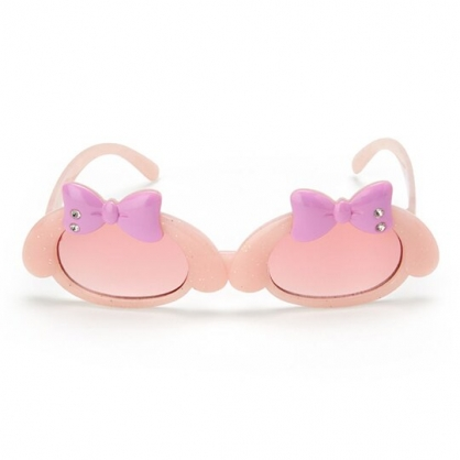 小禮堂 美樂蒂 兒童造型鏡框抗UV太陽眼鏡 墨鏡 防曬眼鏡 (粉紫 2020夏日服飾)