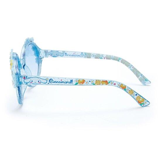小禮堂 大耳狗 兒童造型鏡框抗UV太陽眼鏡 墨鏡 防曬眼鏡 (藍黃 2020夏日服飾)