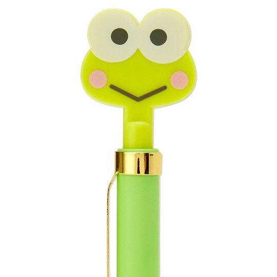 小禮堂 大眼蛙 造型原子筆 自動原子筆 黑筆 金屬筆夾 (綠 大臉文具)