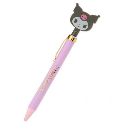 小禮堂 酷洛米 造型原子筆 自動原子筆 黑筆 金屬筆夾 (紫 大臉文具)