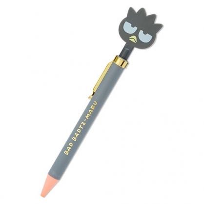 小禮堂 酷企鵝 造型原子筆 自動原子筆 黑筆 金屬筆夾 (灰 大臉文具)