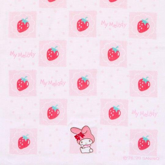 小禮堂 美樂蒂 紗布長毛巾 純棉毛巾 長巾  34x80cm (粉 草莓)