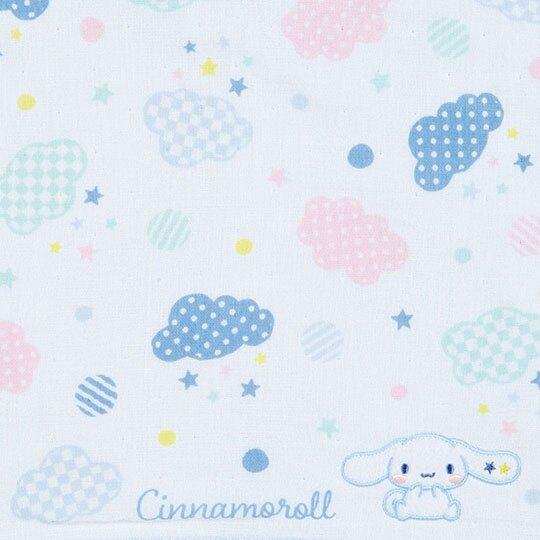 小禮堂 大耳狗 紗布短毛巾 純棉毛巾 方形毛巾 34x36cm (淡藍 雲朵)