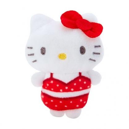 小禮堂 Hello Kitty 迷你換裝娃娃 絨毛玩偶 沙包娃娃 (紅白 熱帶沙灘)