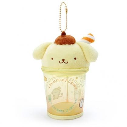 小禮堂 布丁狗 造型透明玩偶收納包 掛飾收納包 玩偶展示包 (黃棕 熱帶沙灘)