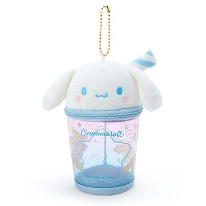 小禮堂 大耳狗 造型透明玩偶收納包 掛飾收納包 玩偶展示包 (藍白 熱帶沙灘)