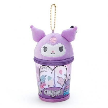 小禮堂 酷洛米 造型透明玩偶收納包 掛飾收納包 玩偶展示包 (紫黑 熱帶沙灘)