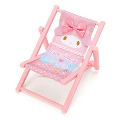 小禮堂 美樂蒂 海灘椅造型手機架 塑膠置物架 玩偶椅 (粉 熱帶沙灘)