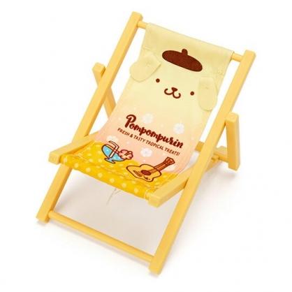 小禮堂 布丁狗 海灘椅造型手機架 塑膠置物架 玩偶椅 (黃 熱帶沙灘)