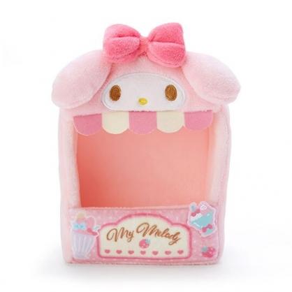 小禮堂 美樂蒂 造型絨毛玩偶收納盒 玩偶展示盒 絨毛置物盒 (粉 熱帶沙灘)