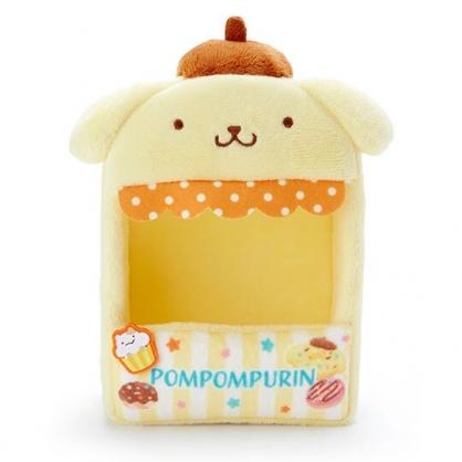 小禮堂 布丁狗 造型絨毛玩偶收納盒 玩偶展示盒 絨毛置物盒 (黃橘 熱帶沙灘)